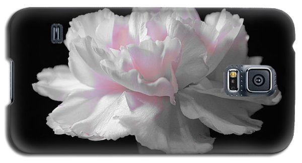 Galaxy S5 Case featuring the digital art White With Pink Carnation by Jeannie Rhode
