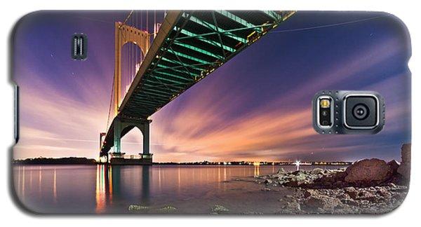Galaxy S5 Case featuring the photograph Whitestone Bridge by Mihai Andritoiu