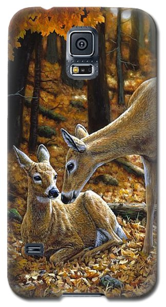 Whitetail Deer - Autumn Innocence 2 Galaxy S5 Case