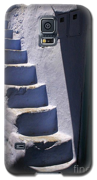 Galaxy S5 Case featuring the photograph Whitewashed Steps In The Medina Of Asilah On Northwest Tip Of Atlantic Coast Of Morocco by Ralph A  Ledergerber-Photography