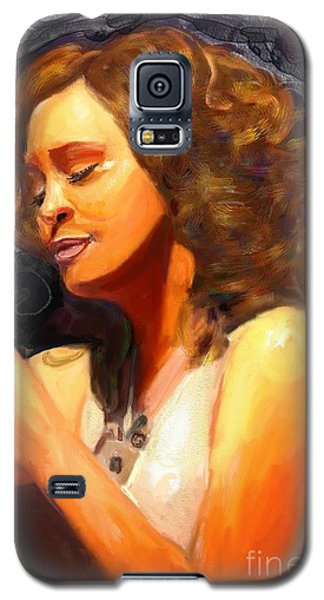 Galaxy S5 Case featuring the painting Whitney Gone Too Soon by Vannetta Ferguson