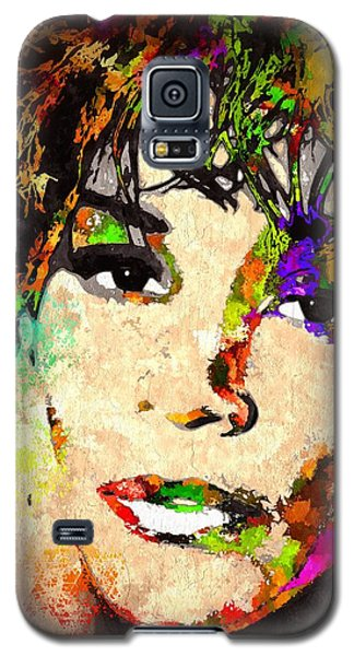 Whitney Houston Galaxy S5 Case by Daniel Janda