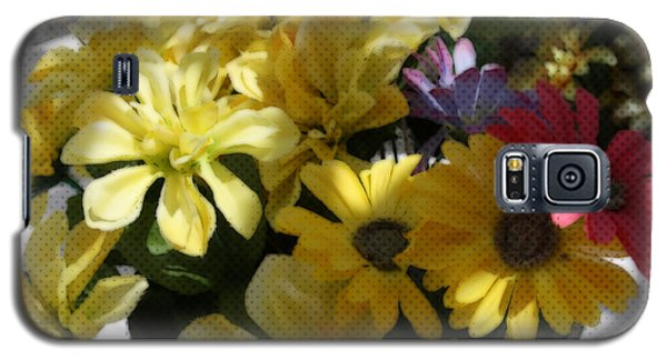 Galaxy S5 Case featuring the photograph Whittle Yellow Basket Of Flowers by Sherri  Of Palm Springs