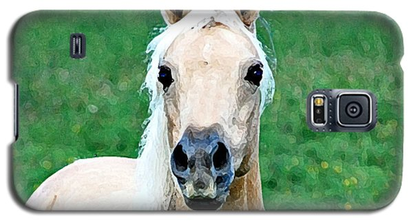 Galaxy S5 Case featuring the photograph Who Comes To My Pasture  by Lila Fisher-Wenzel