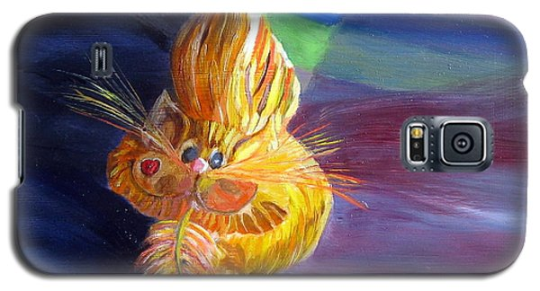 Galaxy S5 Case featuring the painting Who Me? What Birdie? by LaVonne Hand