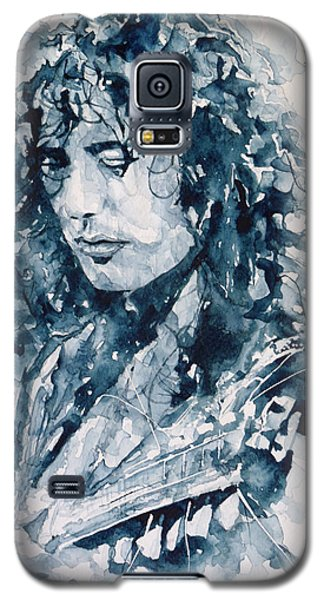 Musicians Galaxy S5 Case - Whole Lotta Love Jimmy Page by Paul Lovering