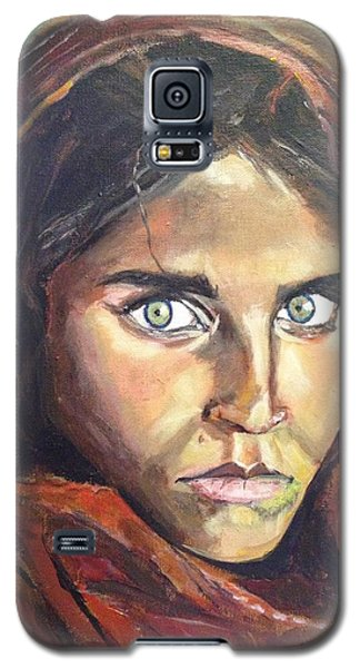 Galaxy S5 Case featuring the painting Who's That Girl? by Belinda Low