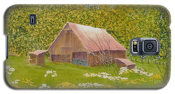 Galaxy S5 Case featuring the painting Whose Barn - What Barn - My Barn  by Joel Deutsch