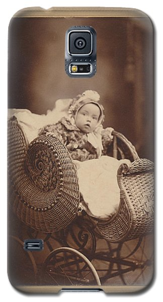 Wicker Pram Galaxy S5 Case by Paul Ashby Antique Image