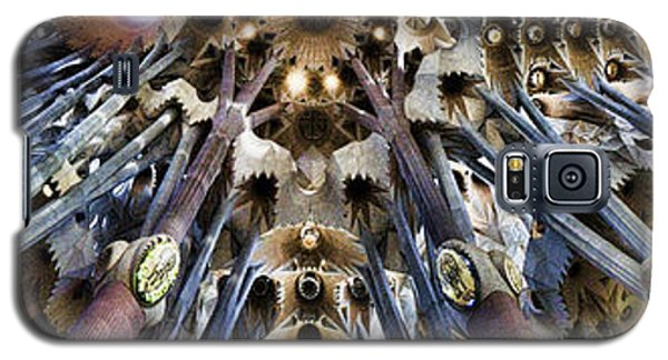 Wide Panorama Of The Interior Ceiling Of Sagrada Familia In Barcelona Galaxy S5 Case