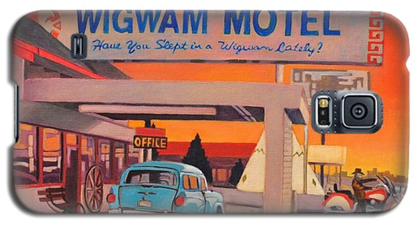 Galaxy S5 Case featuring the painting Wigwam Motel by Art James West
