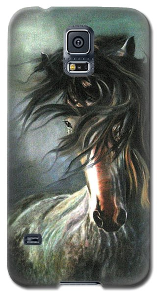 Galaxy S5 Case featuring the painting Wild And Free by LaVonne Hand