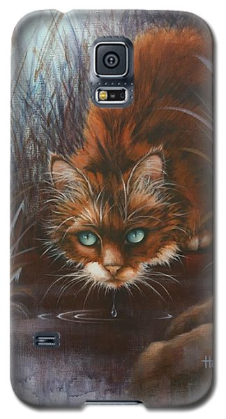 Galaxy S5 Case featuring the painting Wild At Heart by Cynthia House