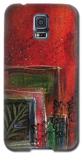 Galaxy S5 Case featuring the painting Wild At Heart by Nicole Nadeau