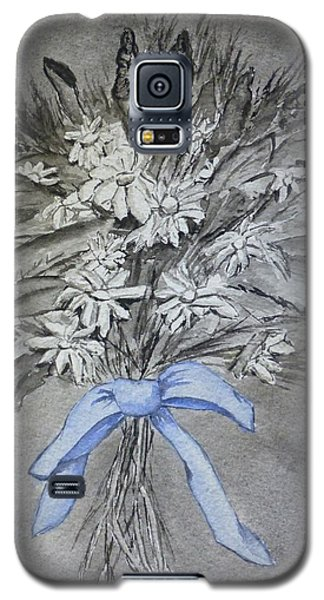 Galaxy S5 Case featuring the painting Wild Blue Flowers by Kelly Mills