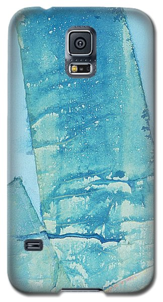 Galaxy S5 Case featuring the painting Wild Blue Waves by Asha Carolyn Young