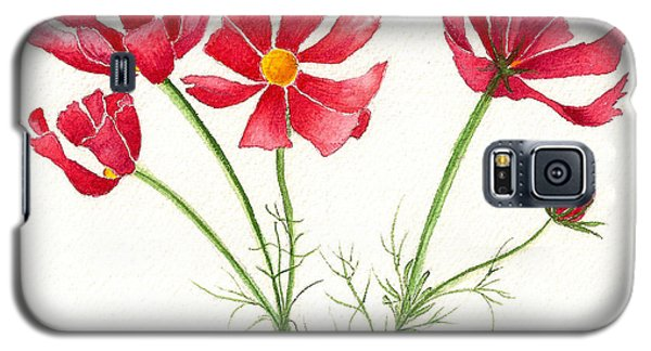 Galaxy S5 Case featuring the painting Wild Cosmos by Nan Wright