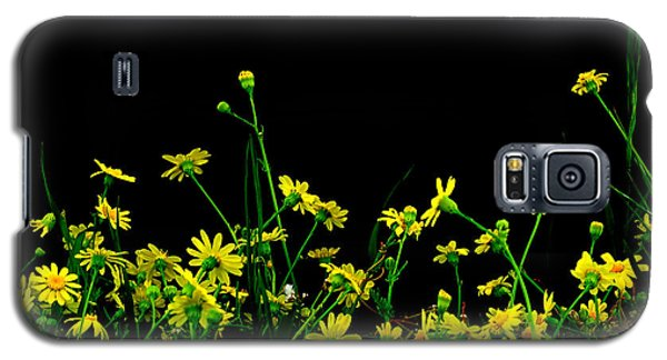Galaxy S5 Case featuring the photograph Wild Flowers At Night by Marwan Khoury