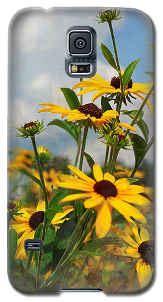 Galaxy S5 Case featuring the digital art Wild Flowers by Lena Wilhite