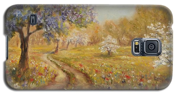 Galaxy S5 Case featuring the painting Wild Garden Path by  Luczay