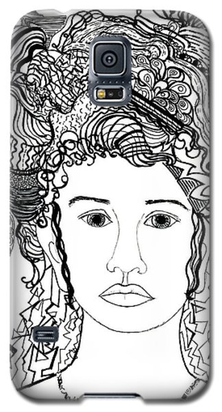 Wild Hair Portrait In Shapes And Lines Galaxy S5 Case