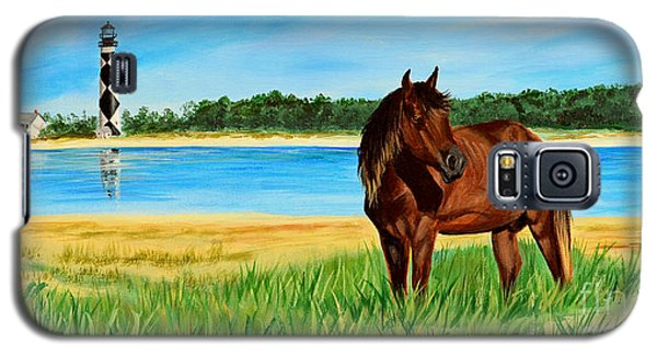 Wild Horse Near Cape Lookout Lighthouse Galaxy S5 Case by Patricia L Davidson
