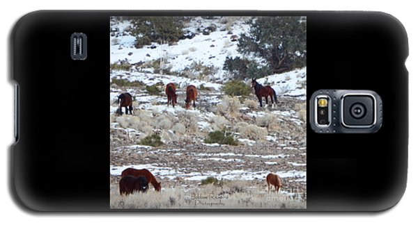 Wild Mustangs In A Nevada Winter Galaxy S5 Case