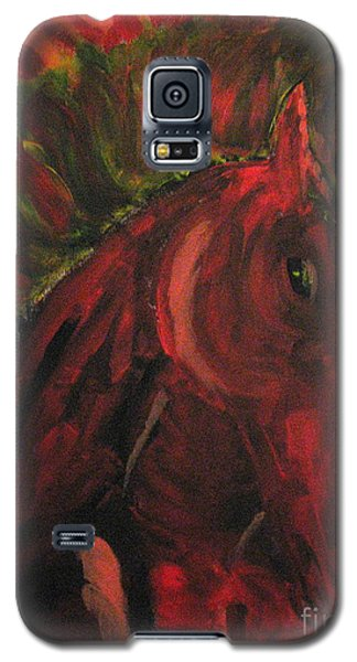 Galaxy S5 Case featuring the painting Wild N' Free by Wendy Coulson