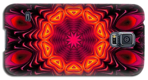 Galaxy S5 Case featuring the digital art Wild Pink by Hanza Turgul