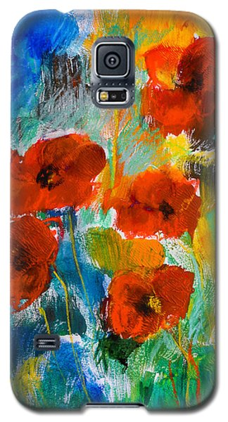 Wild Poppies Galaxy S5 Case by Elise Palmigiani