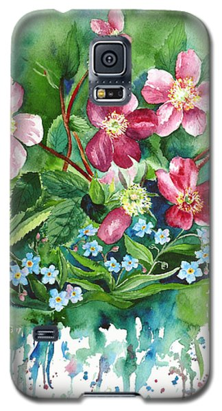 Wild Roses And Forget Me Nots Galaxy S5 Case
