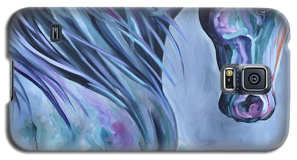 Galaxy S5 Case featuring the painting Wild Stallion Abstract by Debbie Hart
