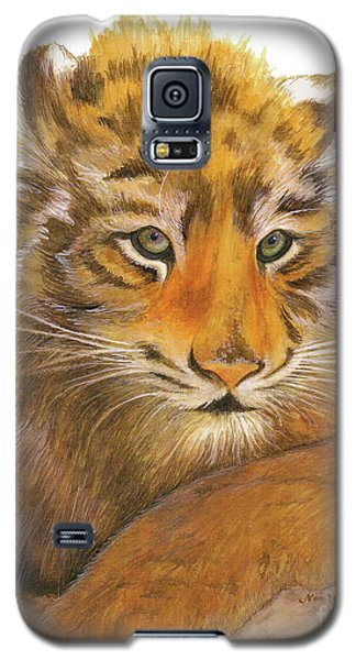 Wild Tiger Cub Galaxy S5 Case by Nan Wright