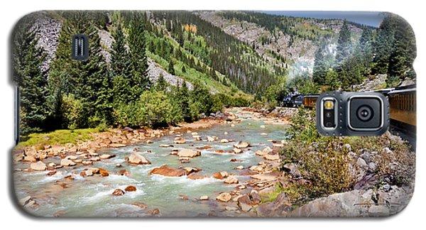 Wild West Train Ride Along The Animas River From Durango To Silverton Colorado Galaxy S5 Case by Karen Stephenson