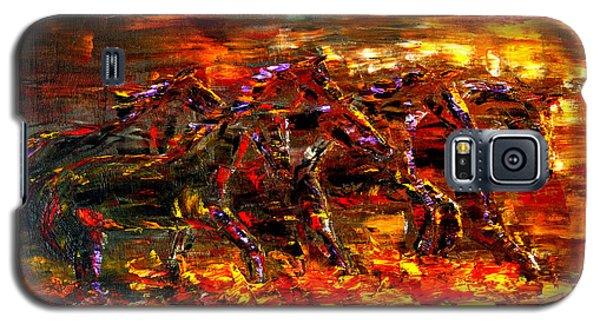 Galaxy S5 Case featuring the painting Wild West Wind by Jennifer Godshalk