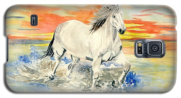 Wild White Horse Galaxy S5 Case by Melly Terpening