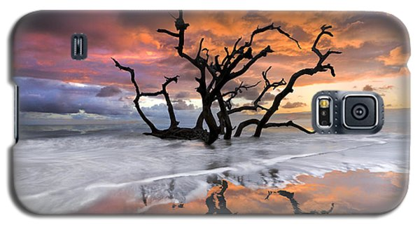Sunset Galaxy S5 Case - Wildfire by Debra and Dave Vanderlaan