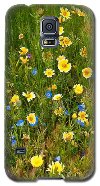 Galaxy S5 Case featuring the photograph Wildflower Salad - Spring In Central California by Ram Vasudev