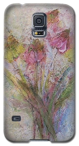 Galaxy S5 Case featuring the painting Wildflowers 2 by Mary Wolf