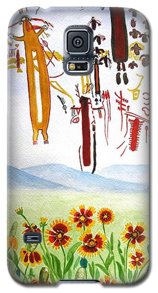 Wildflowers And Rock Art At Halo Shelter  Galaxy S5 Case