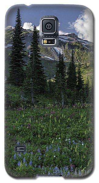 Wildflowers At Rainier Galaxy S5 Case