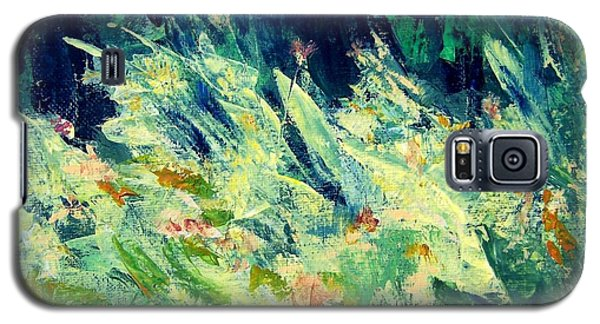 Galaxy S5 Case featuring the painting Wildflowers by Mary Lynne Powers