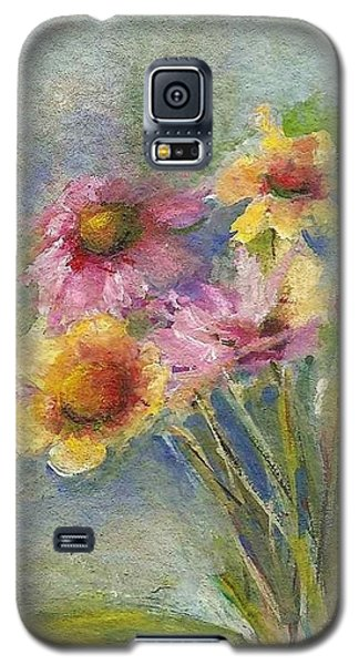 Galaxy S5 Case featuring the painting Wildflowers by Mary Wolf