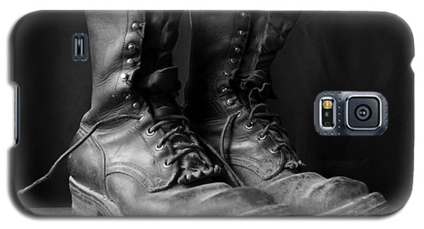 Wildland Fire Boots Still Life Galaxy S5 Case by Kerri Mortenson