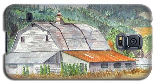 Galaxy S5 Case featuring the painting Willamette Valley Barn by Carol Flagg