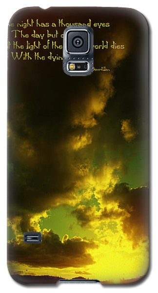 Willamette Valley Sunset And Quote Galaxy S5 Case by Mick Anderson