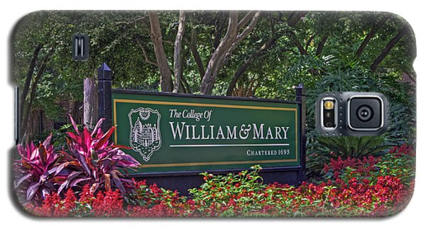 William And Mary Welcome Sign Galaxy S5 Case