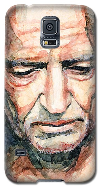 Galaxy S5 Case featuring the painting Willie Nelson  by Laur Iduc