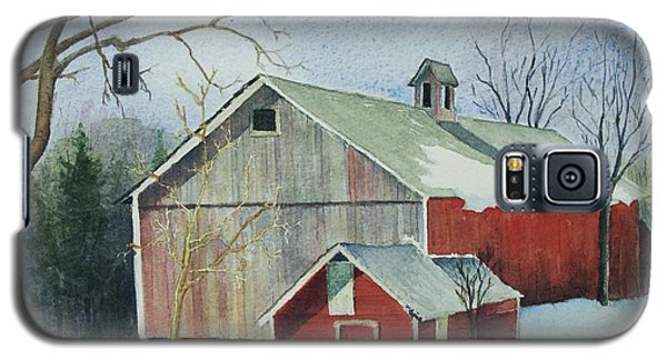 Galaxy S5 Case featuring the painting Williston Barn by Mary Ellen Mueller Legault