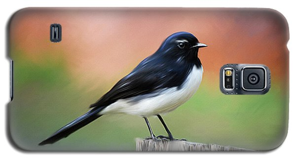 Willy Wagtail Austalian Bird Painting Galaxy S5 Case